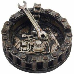 Пепельницы и зажигалки - Motorhead Пепельница мотоцикл цепи и гаечный ключ, 0