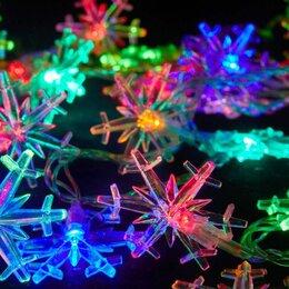 Новогодний декор и аксессуары - Гирлянда 3 м Снежинки 20 LED , 0