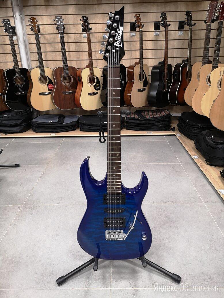 Новая электрогитара ibanez GRX70QA-TBB по цене 22900₽ - Электрогитары и бас-гитары, фото 0
