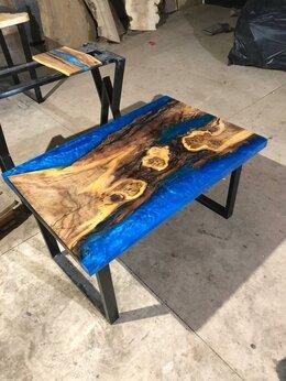 Столы и столики - Дизайнерский стол-река с эпоксидной смолой…, 0