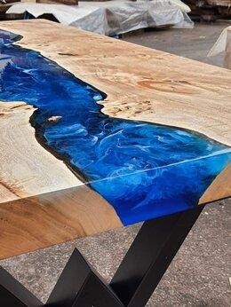 Столы и столики - Стол-река в стиле лофт с эпоксидной смолой, 0