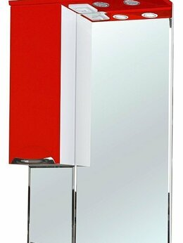 Зеркала - Зеркало-шкаф Bellezza Альфа 55 L красный, 0