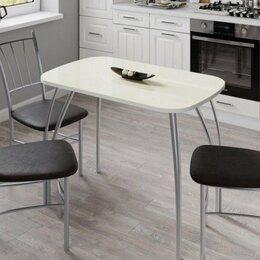 Столы и столики - Стол «Агат» (1000х600) лакобель ваниль, 0