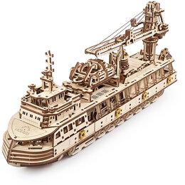 Новогодние фигурки и сувениры - Научно-исследовательское судно, 3D-пазл, 0