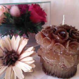 Декоративные свечи - Свеча Букет Роз - Кофейная, 0