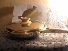 Сковороды и сотейники - Сковорода   2 л  диаметр 24 см. технология URA  …, 0