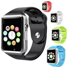 Умные часы и браслеты - Умные смарт часы Smart Watch A1s с сим картой, 0