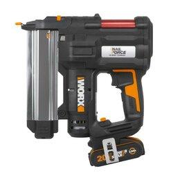 Гвоздескобозабивные пистолеты и степлеры - Аккумуляторный Гвозде-скобозабиватель WORX WX840 20В, 2Ач х1, ЗУ, кейс, 0