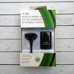 Рули, джойстики, геймпады - Аккумулятор для Xbox 360 + кабель для зарядки, 0