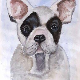 Картины, постеры, гобелены, панно - Картина акварель Собака, 0