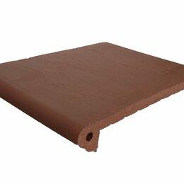 Клинкерная плитка - Ступени клинкерные флорентийские  Бордо Экоклинкер 250x330x40/16 мм, 0