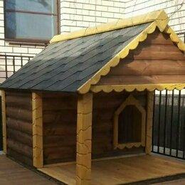Клетки, вольеры, будки  - Будка для большой собаки из блок хауса с подогревом, 0