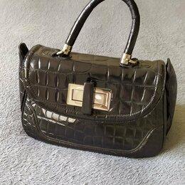 Сумки - Стильная сумка портфель натуральная кожа, 0