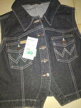Жилеты - Новый женский джинсовый оригинальный жилет 34…, 0