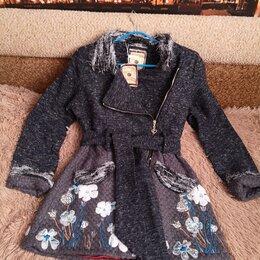 Пальто - Полупальто новое с вышивкой на молнии 44-46 р., 0