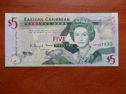 Банкноты - ВОСТОЧНЫЕ КАРИБЫ  5 долларов (ND), 0
