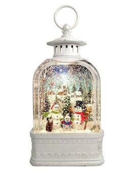 """Новогодние фигурки и сувениры - CEIMAR Фигура световая фонарь """"Снеговики у елки""""…, 0"""