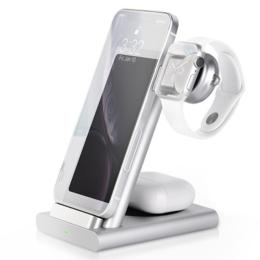 Док-станции - Док-станция COTEetCI Base 3 в 1 для Apple Watch / iPhone / AirPods CS5700-TS ..., 0