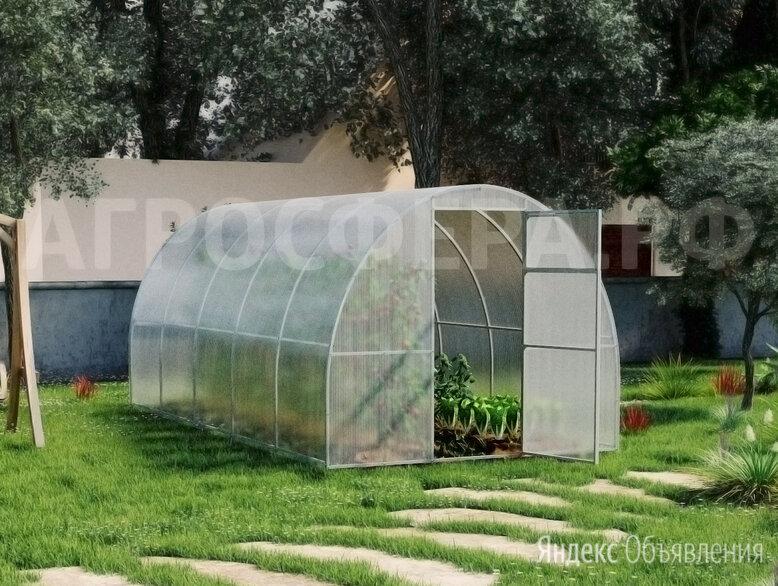 Теплица Агросфера Оптима, СПК 4мм ЭКОНОМ 0,5кг/м2, 6 метров по цене 27270₽ - Теплицы и каркасы, фото 0
