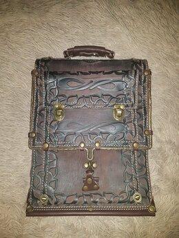 Сумки - Мужская кожаная сумка новая, 0