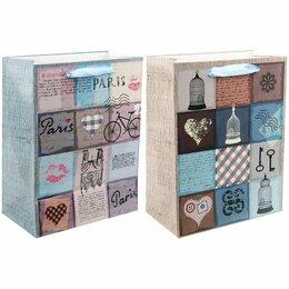 Подарочная упаковка - Пакет подарочный 17,8*22,9*9,8см Veld-co «В стиле прованс», ламинированный, 0