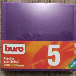 Сумки и боксы для дисков - Коробка для CD/DVD Slim Case Color (5 штук), 0