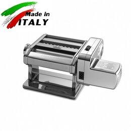 Пельменницы, машинки для пасты и равиоли - Marcato Classic Ampia Motor 150 mm электрическая тестораскатка - лапшерезка, 0