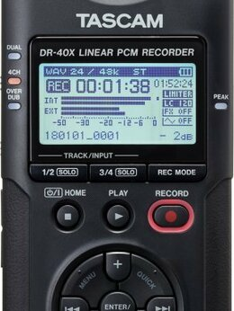 Микрофоны - Рекордер Tascam DR-40x, 0