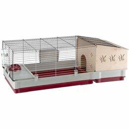 Сельскохозяйственные животные - Клетка для кроликов с деревянным домиком. KROLIK…, 0