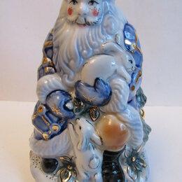 Статуэтки и фигурки - Дед Мороз ( в синем) Гжель,авторская роспись,новый, 0