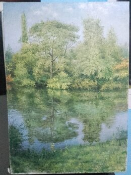 Картины, постеры, гобелены, панно - Картина большая. Река Кубань, 0