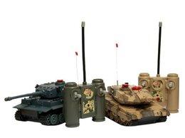 Радиоуправляемые игрушки - Р/У танковый бой Huan Qi 1:32 IV Tiger vs…, 0