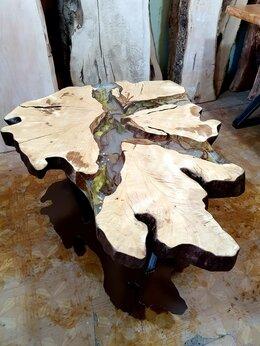 Столы и столики - Журнальный стол из массива Граба с сухоцветами, 0