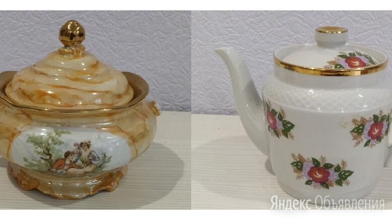 Чайник заварочный новый и сахарница по цене 200₽ - Заварочные чайники, фото 0