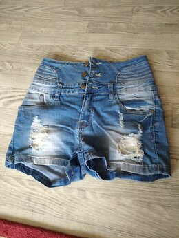 Шорты - Джинсовые шорты рваные женские, 0