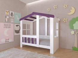 Кровати - Детская кровать-домик Астра белый-фиолетовый 9…, 0