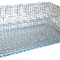 Клетки и домики - Клетка металлическая оцинкованная с выдвижным поддоном (45х32х30 см.), 0