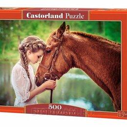 Пазлы - Пазлы Castorland Девушка и лошадь 500 элементов, 0