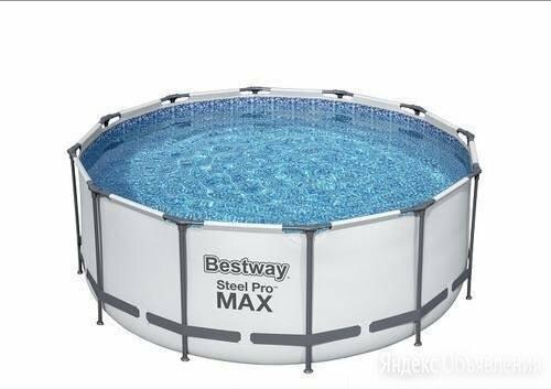 BestWay 56420(366х122, лестница, фильтр, тент) Каркасный бассейн по цене 23500₽ - Бассейны, фото 0