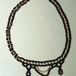 Другое - Бусы ожерелье гранат жемчуг СССР винтаж, 0