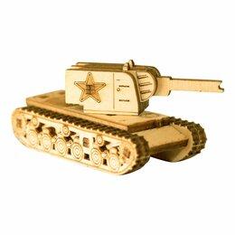 Рукоделие, поделки и товары для них - Деревянный конструктор (3D пазлы) UNIT Танк КВ-2…, 0
