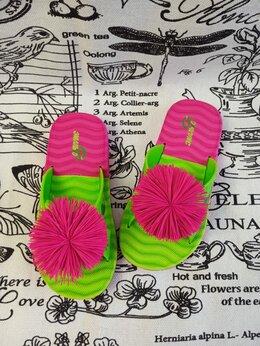 Шлепанцы - Детские шлепанцы для девочки, цвет:…, 0