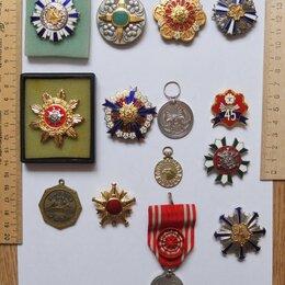 Жетоны, медали и значки - ордена Япония пожарным и Красный Крест, 0