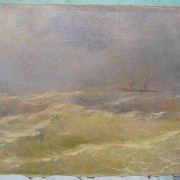 Картины, постеры, гобелены, панно - картина Кораблик по морю гуляет, холст, масло, НХ, Россия,19 век, 0