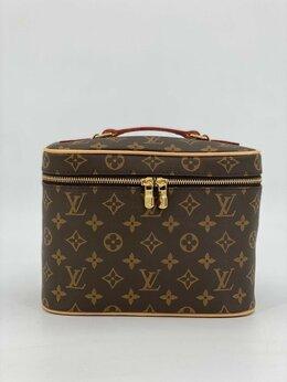 Косметички и бьюти-кейсы - Косметичка Louis Vuitton кожа + канва коричневая…, 0