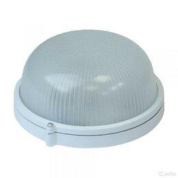 Настенно-потолочные светильники - Светильник нпп-03-60-001 круг E27 IP54 белый новый, 0