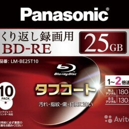 Диски - Диски Blu Ray Panasonic BD-RE 25 Гб lm-be25t10, 0
