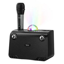 Портативная акустика - Колонка Bluetooth караоке микрофон диско шар, 0