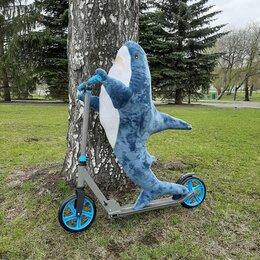 Мягкие игрушки - Акула блохэй 100см, синяя, 0