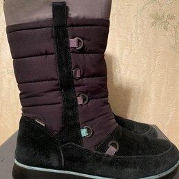 Ботинки - Ботинки демисезонные чёрные Ecco, р.38, 0